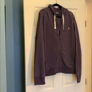 Men's Polo Zip-up Hoodie